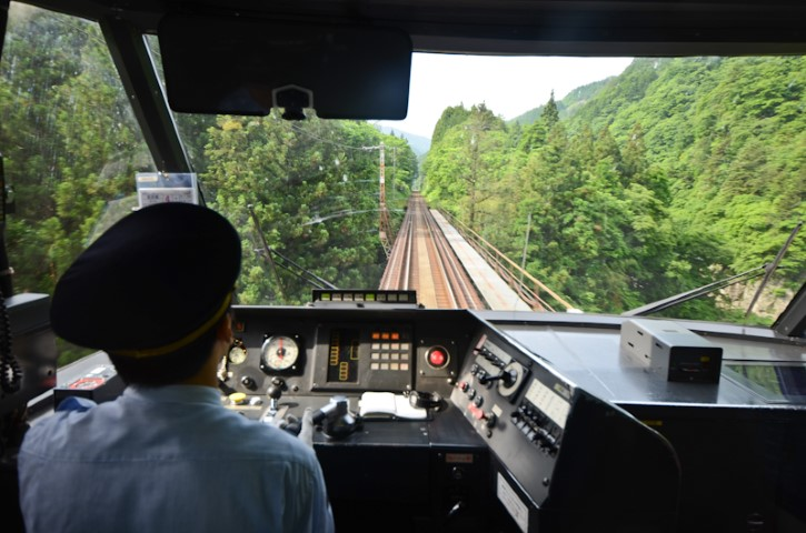 Train ride up the valley to Takayama