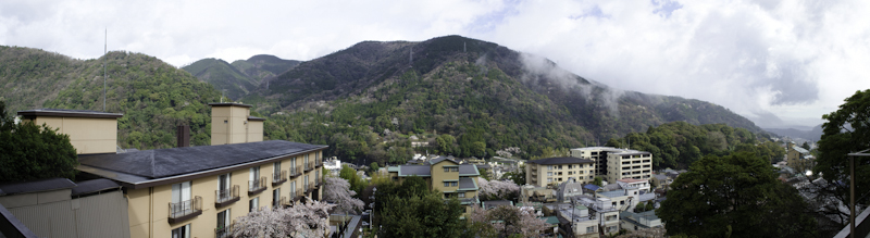 View from accommodation, Hakone