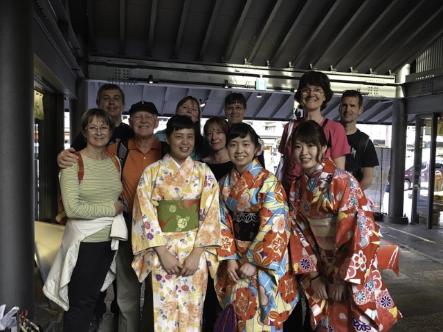 Photo op with locals, Kyoto