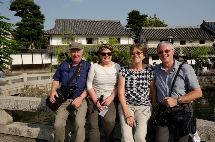 tour guests in Kurashiki