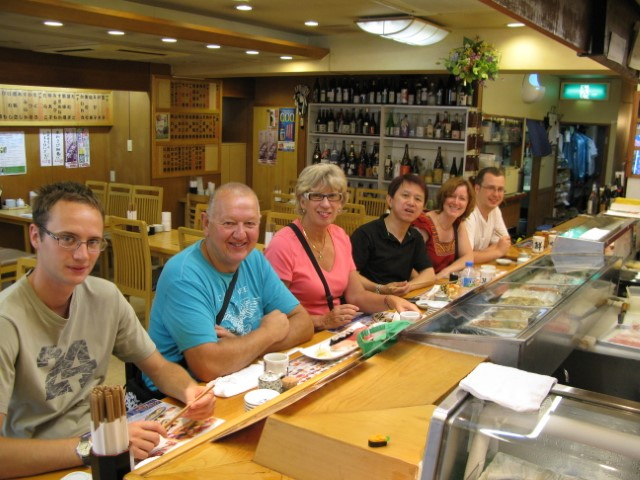 Enjoying Sushi on the Japan Heartland Tour
