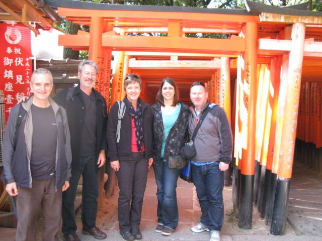 Fushimi Inari famous for the hundreds of shrine gates