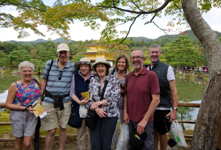 Group photo at the Golden Pavilion
