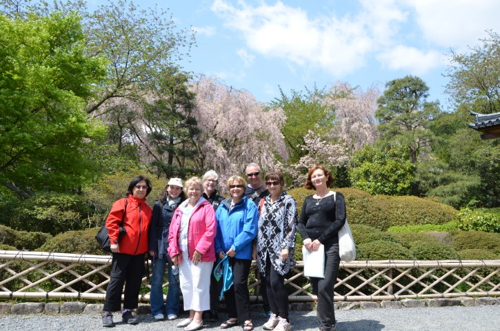 Group tour in spring