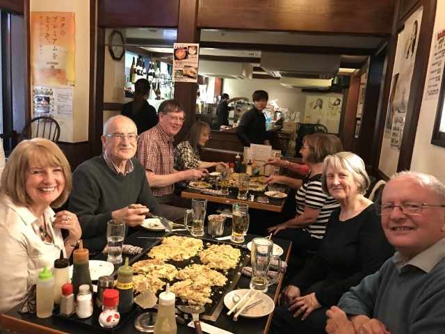 Okonomiyaki group dinner